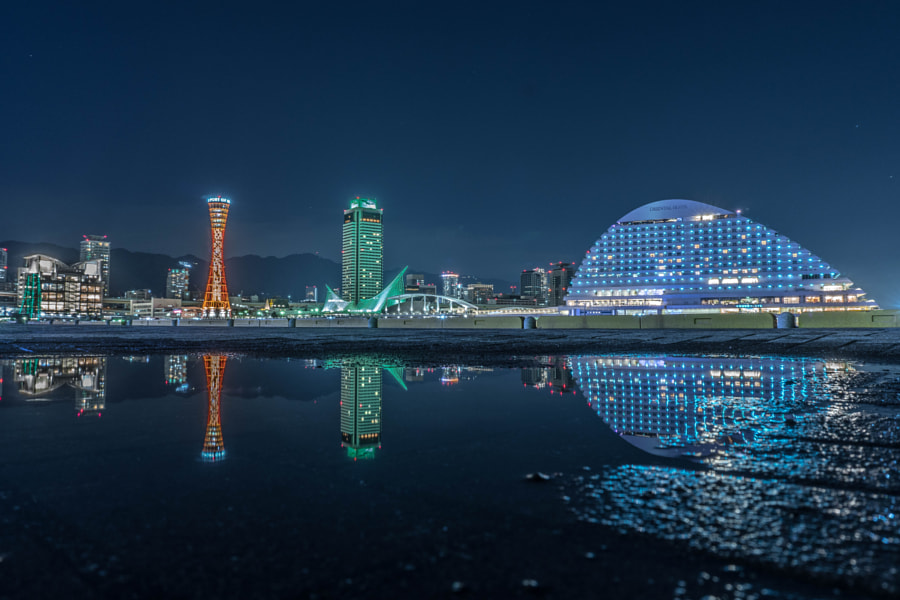 KOBE City reflection by Yuu Photo