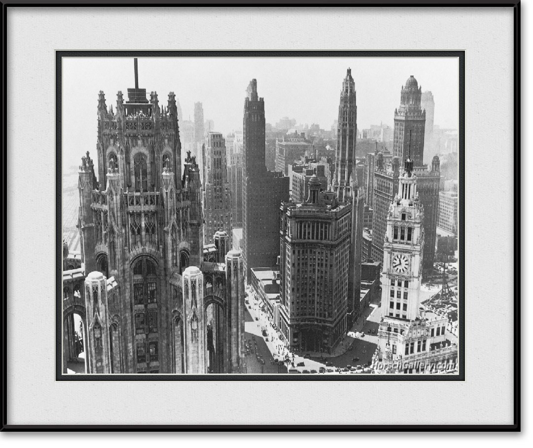 Photograph Vintage Chicago Skyline by Horsch Gallery.com on 500px