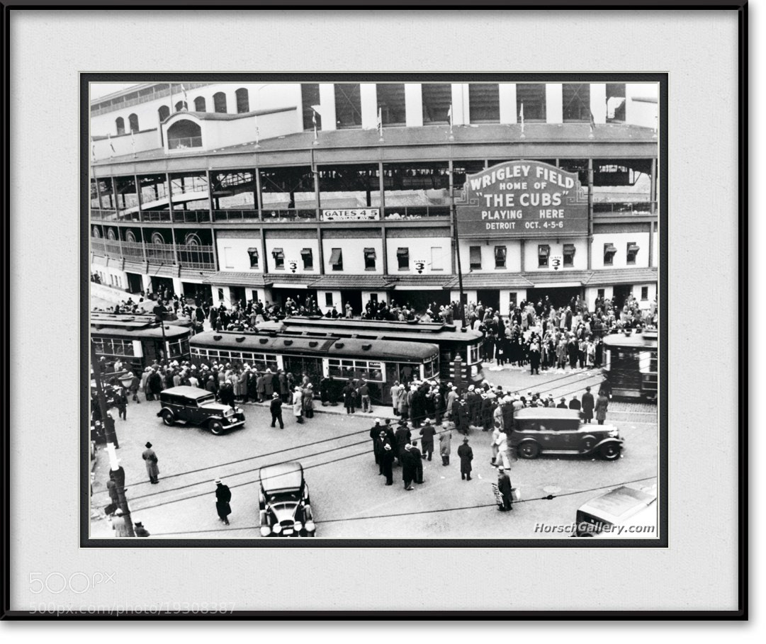 Photograph Vintage Wrigley Field - Chicago Cubs by Horsch Gallery.com on 500px