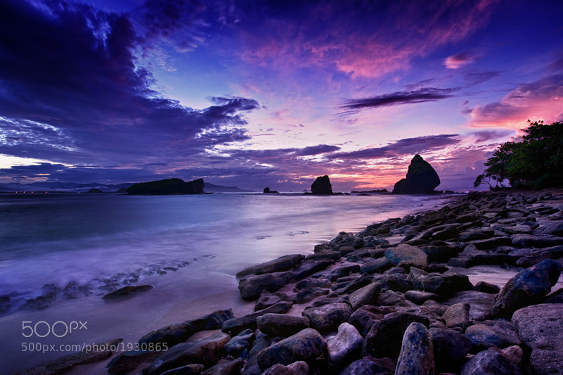 hdr image of Papuma Beach, East Java