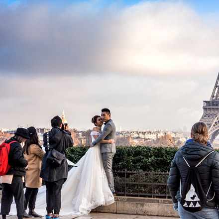 Wedding Time Paris Eiffel, Sony NEX-7, E 18-55mm F3.5-5.6 OSS