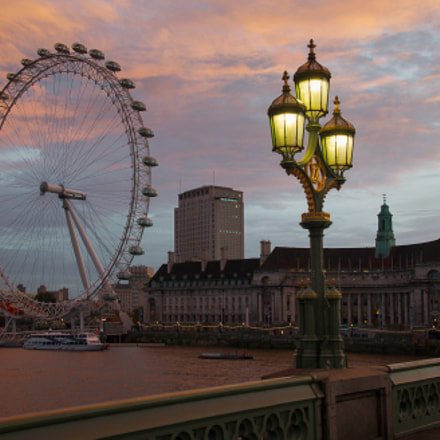 London eye from Westminster, Sony DSLR-A550, Tamron SP AF 17-50mm F2.8 XR Di II LD Aspherical