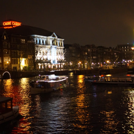 Amstel at night, Sony NEX-3N, Sony E 35mm F1.8 OSS