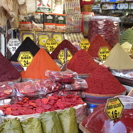 Colorful spices, Canon IXUS 275 HS