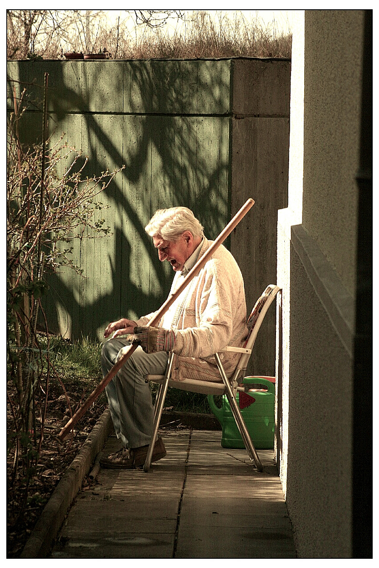 Photograph old man working by Chris Besserer on 500px