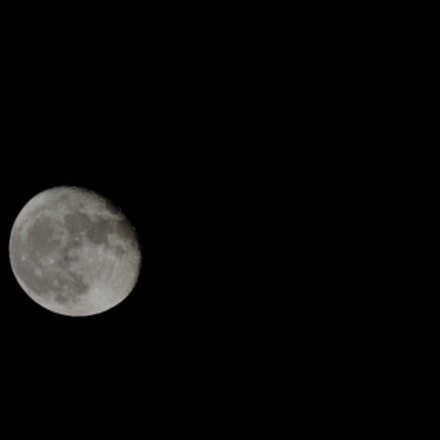 The moon, Pentax K-50, smc Pentax-DA L 50-200mm F4-5.6 ED WR