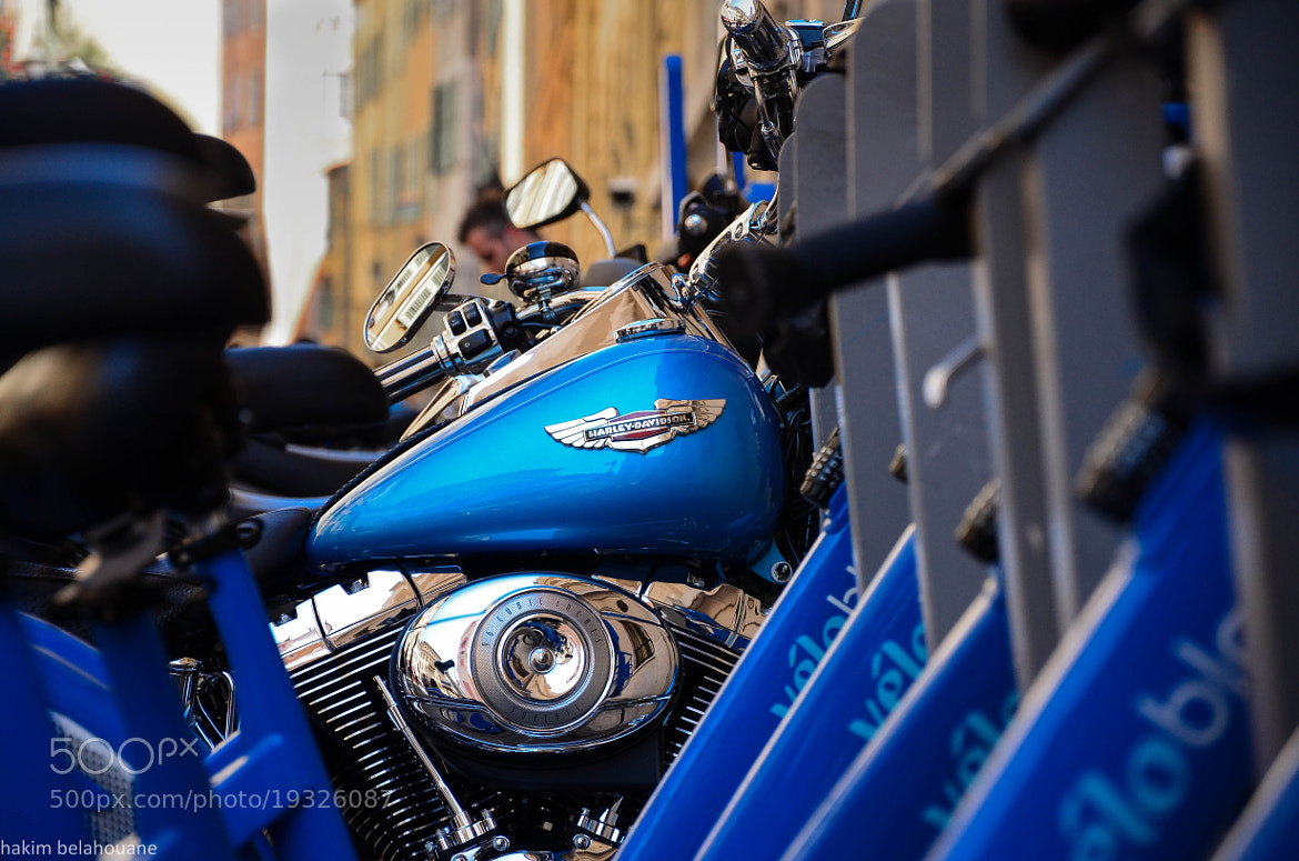 Photograph Harley davidson in vieux Nice by hakim belahouane on 500px