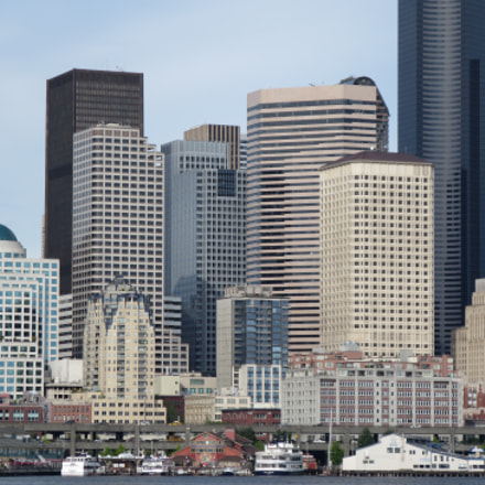 Downtown Seattle from ferry., Canon POWERSHOT ELPH 330 HS