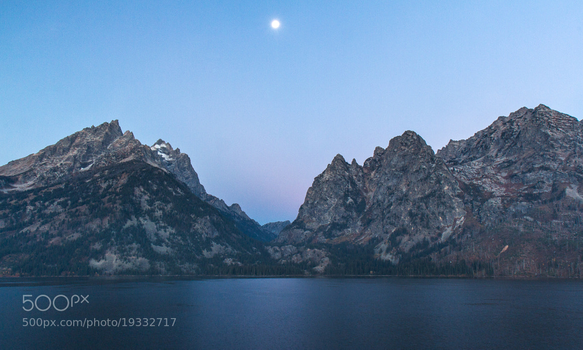 Photograph Moonset over Jenny lake by David  Bair on 500px