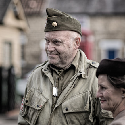 WWII re enactment player, Canon EOS-1D X, Canon EF 85mm f/1.2L II