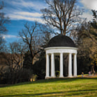This is James Madison's Temple. Hidden below was a storage area for ice. On the grounds of James Madison's Montpelier