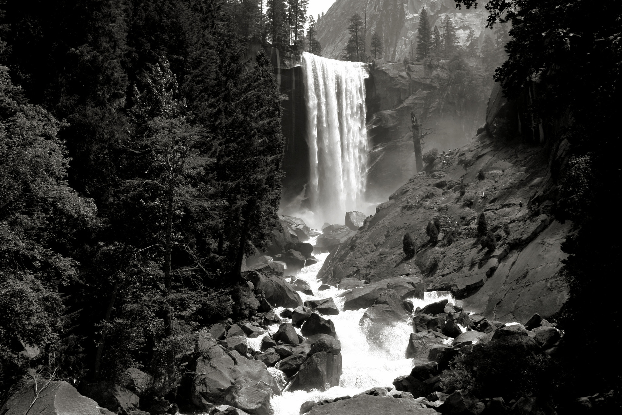 Photograph Vernal Falls - JMT 11 bw by John  Reed on 500px