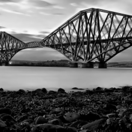 Forth Bridge B/W, Fujifilm X100S