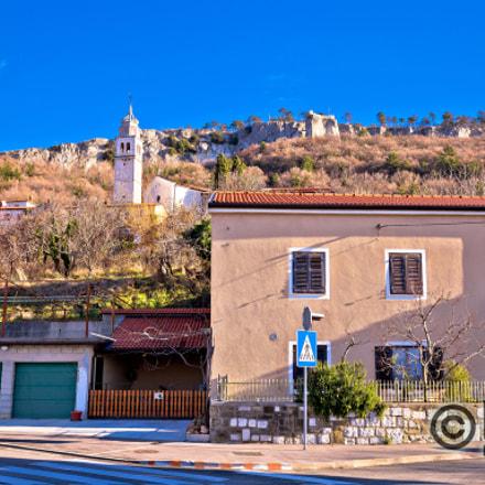 Crni Kal village on hillside cliffs