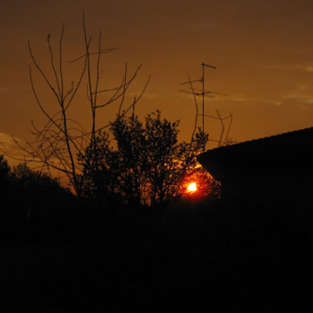 sunset in the country, Canon DIGITAL IXUS 200 IS