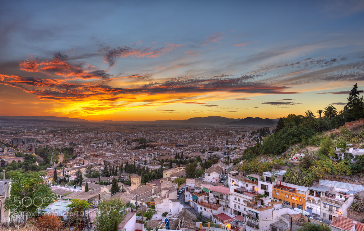 Photograph Sunset over Granada. 24mm by Gene Krasko on 500px