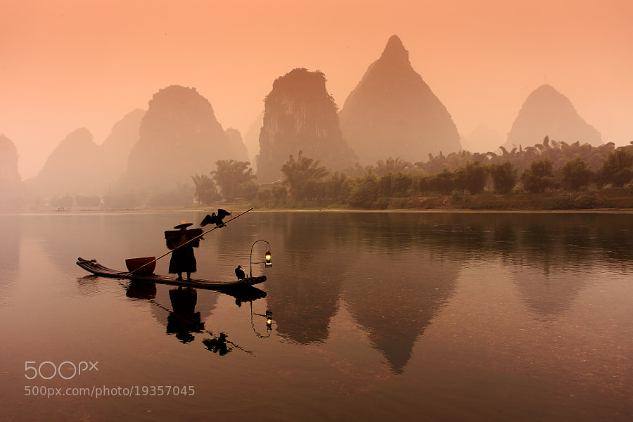 Cormorant fisherman on Li river #2 by Sergey Kuznetsov (Real_Dragon)) on 500px.com