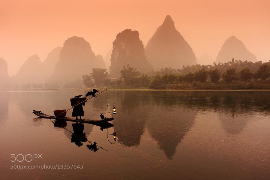 Cormorant fisherman on Li river #2 by Sergey Kuznetsov (Real_Dragon)) on 500px.com