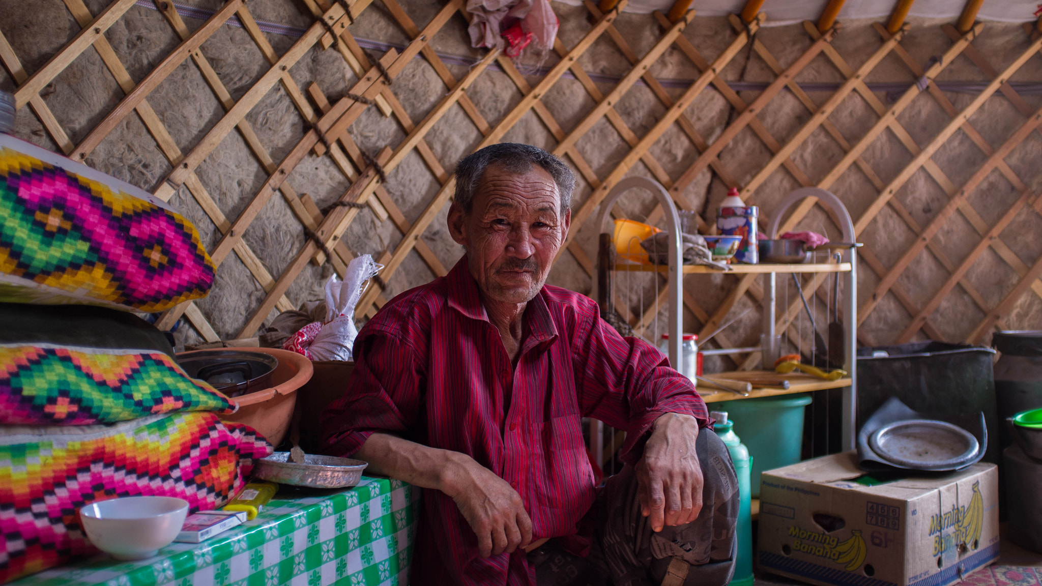 Photograph in a mongolian yurt by Severin Stalder on 500px