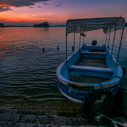 Sunset Over Lago Peten Itza