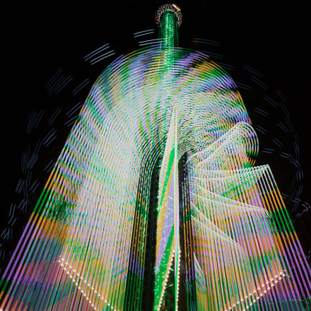 Prater lights on! Tower, Sony SLT-A99V, Tamron SP 24-70mm F2.8 Di USD