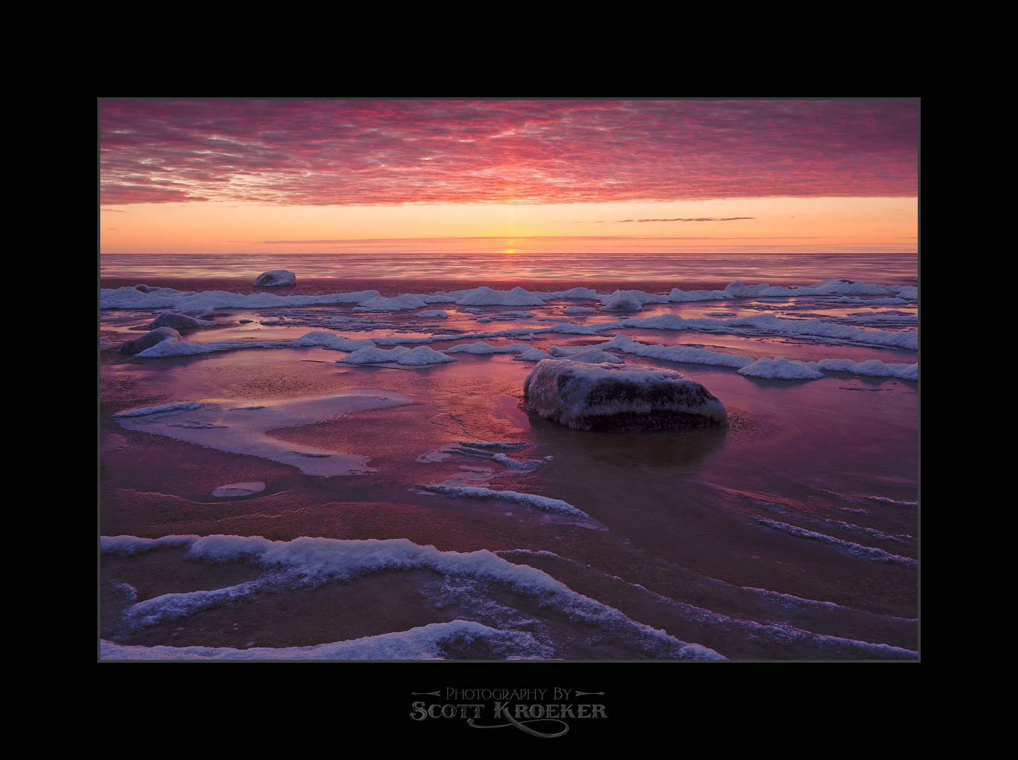 Photograph Sunset on Ice by Scott Kroeker on 500px