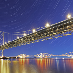 Forth Bridges Under the Stars by Mike Smith (MikeSmith6)) on 500px.com