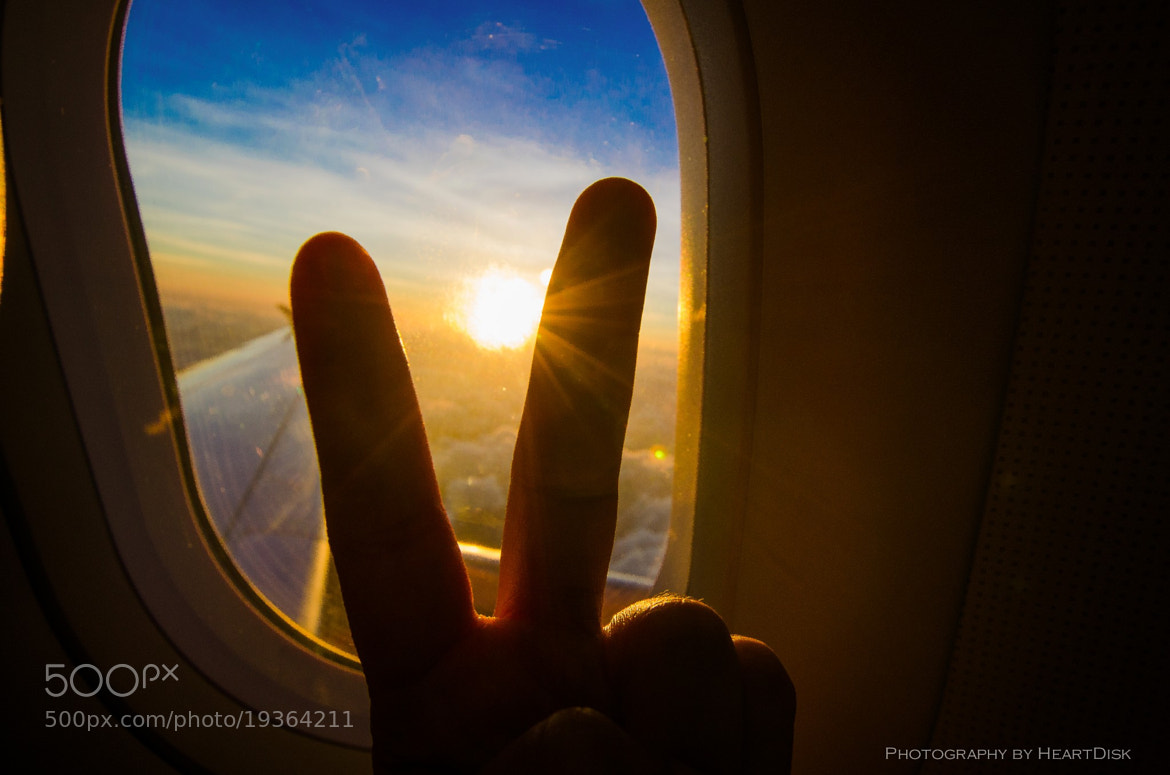 Photograph Sunset at 15,000 feet by Heart Disk on 500px