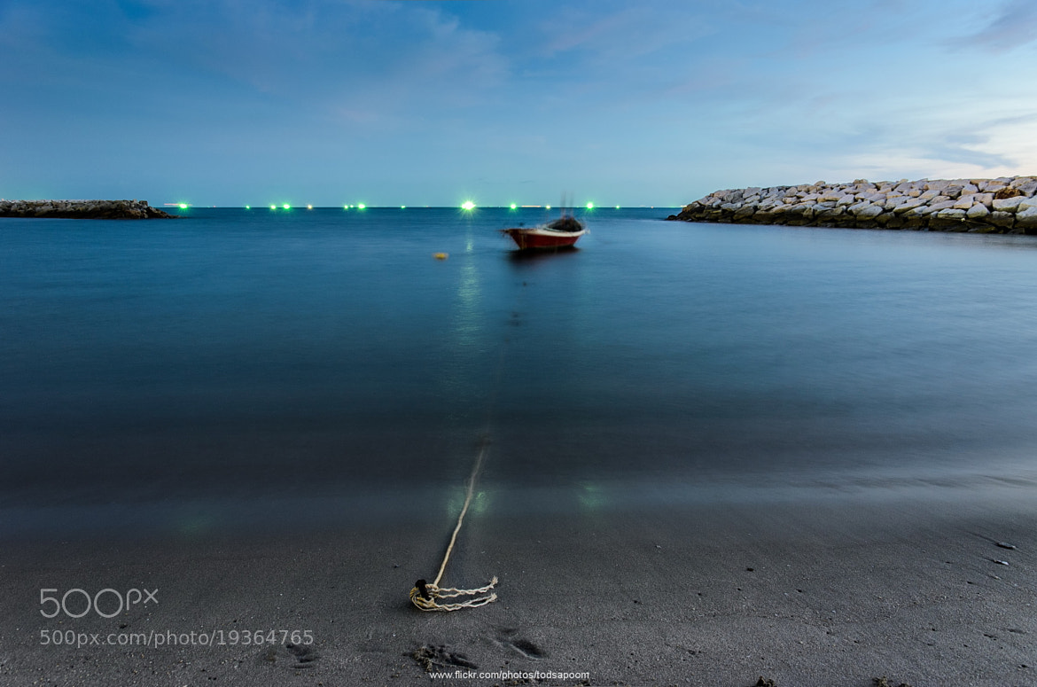 Photograph A Little boat tied with a small Anchor by Todsapoom K. on 500px