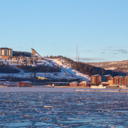 Ice in the bay., Canon EOS 550D, Canon EF-S 18-55mm f/3.5-5.6 IS