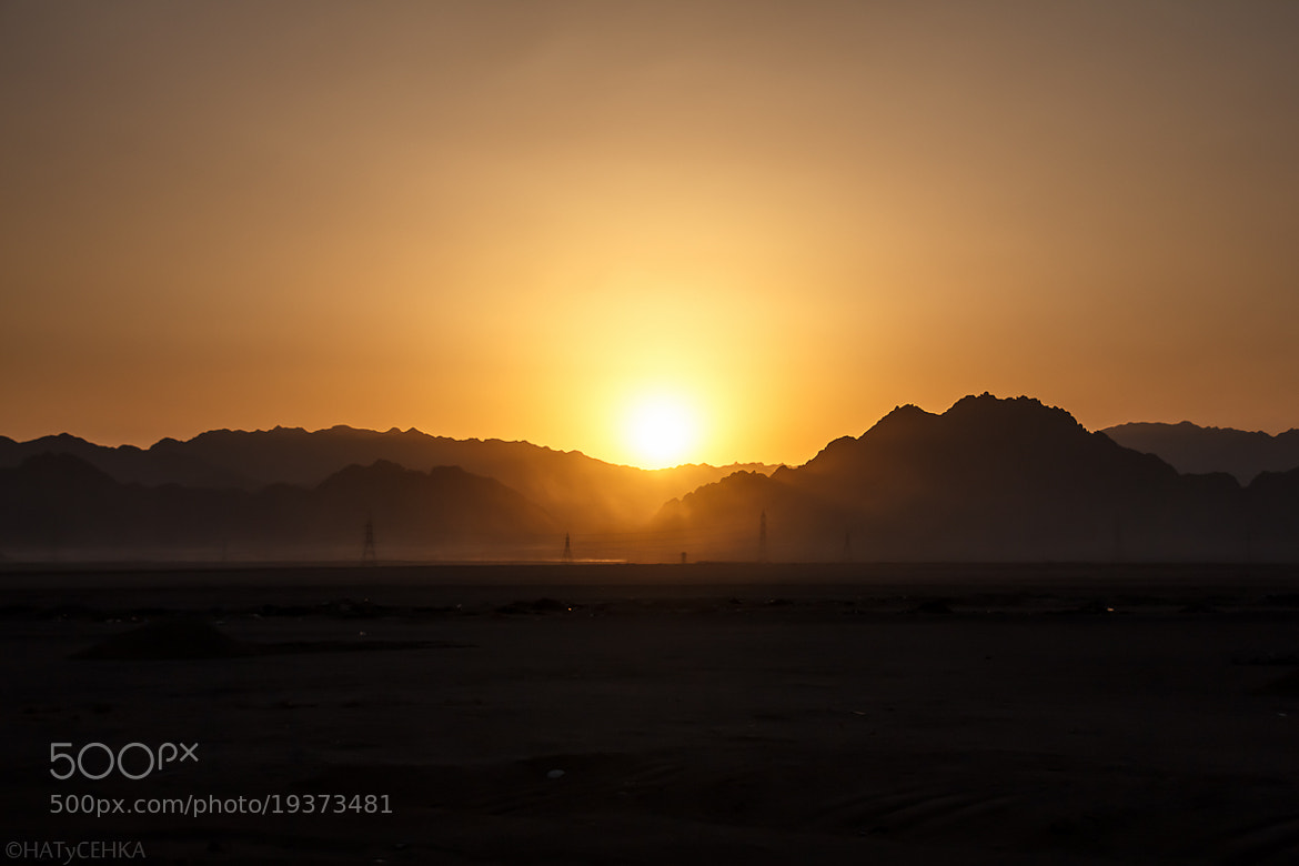 Photograph Sunset in the desert by HATyCEHKA  on 500px
