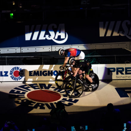 Sixdays Bremen - Sprinterwettbewerb, Panasonic DMC-GM1, Lumix G X Vario 35-100mm F2.8 Power OIS