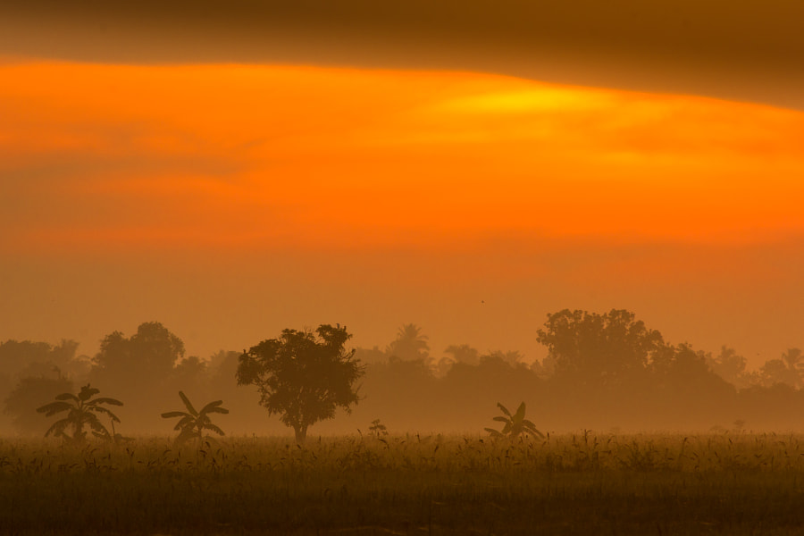 Silhouette of sunrise by Azri Ayob on 500px.com