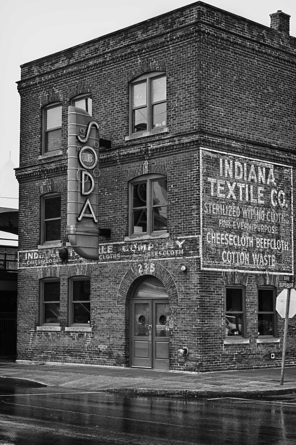 The old Indiana Textile building in Fort Wayne, Indiana.