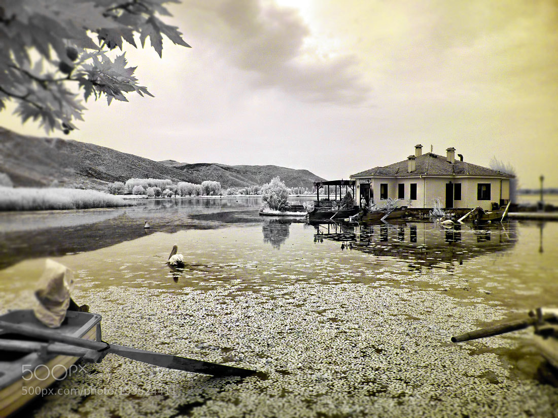 """Panasonic DMC-FH27 sample photo. """"Infrared waterscape of kastoria"""" photography"""