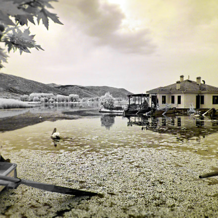 infrared waterscape of Kastoria, Panasonic DMC-FH27