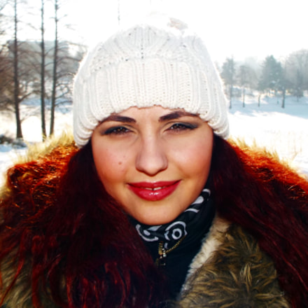 Winter portrait, Fujifilm FinePix S8300