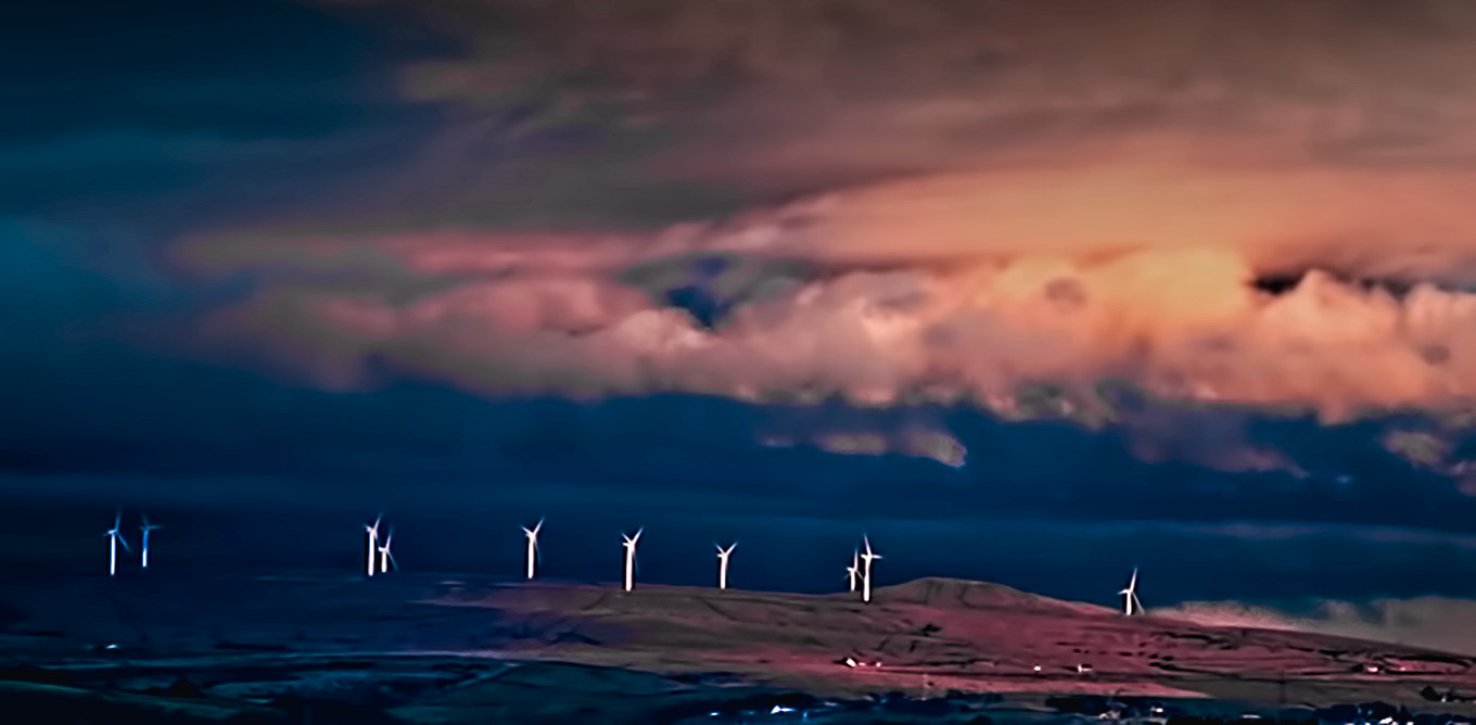 Photograph Windfarm by Richard Tierney on 500px