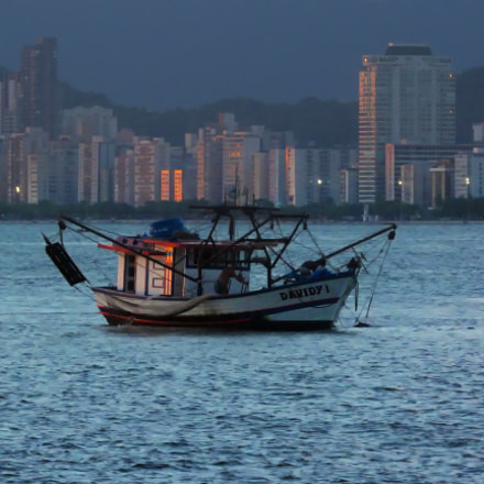 Fishing Boat, Sea and, Canon POWERSHOT SX520 HS