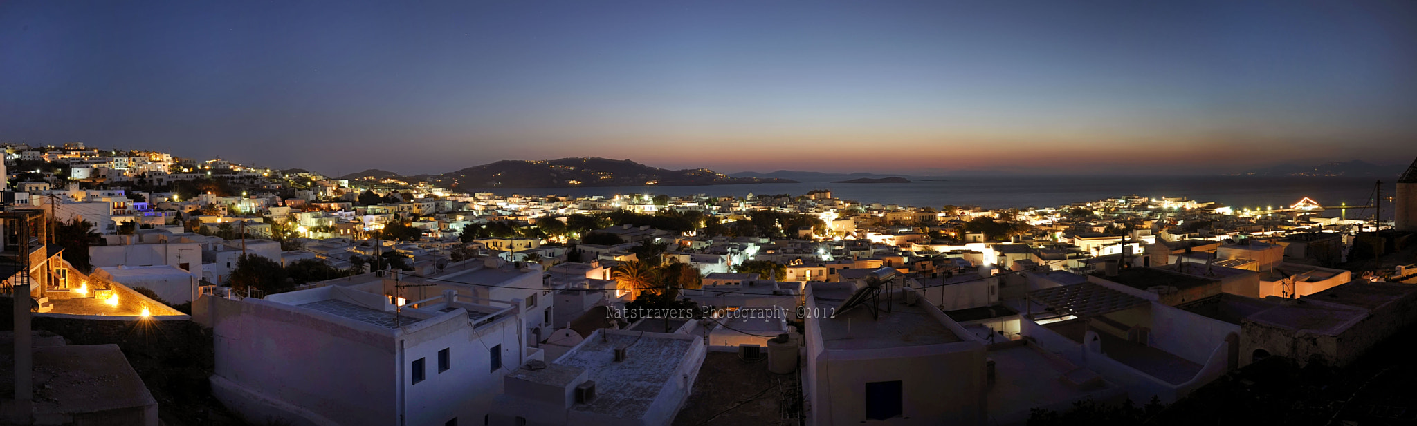 Photograph Panorama city of Mykonos by Nathalie Stravers on 500px