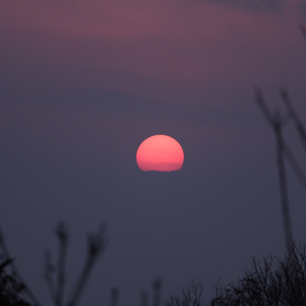 sunset, Canon EOS KISS X8I, Canon EF-S 55-250mm f/4-5.6 IS STM