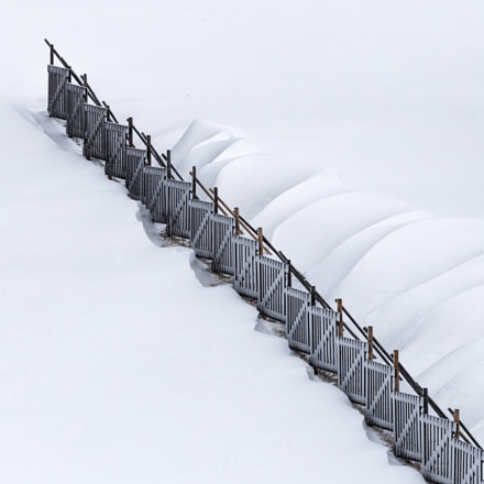 The snow fence..., Canon EOS 6D, Canon EF 70-200mm f/4L IS