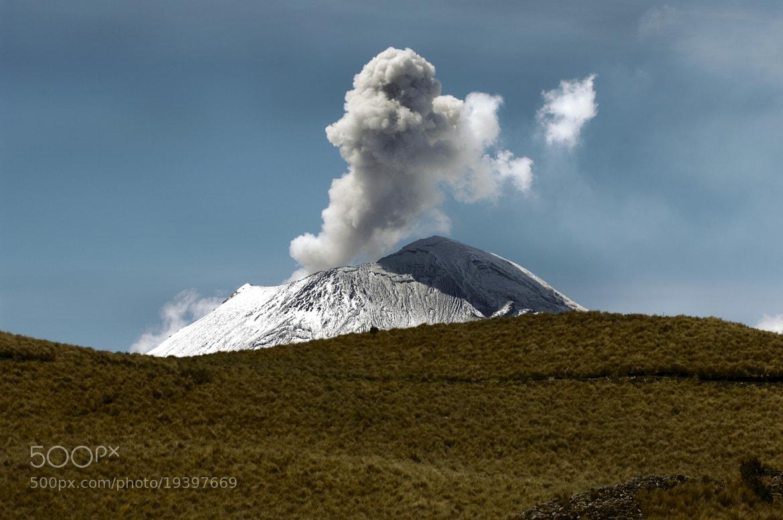 Photograph smoking volcano behind the hill by Cristobal Garciaferro Rubio on 500px