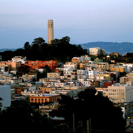 Coit Tower from Russian, Canon POWERSHOT SD870 IS