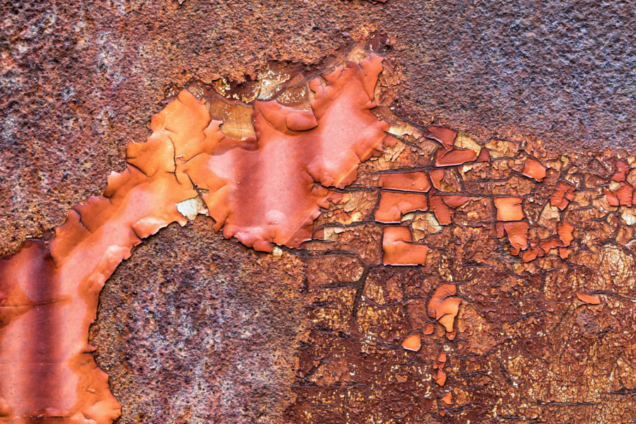 Paint and rust patterns