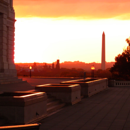 Sunset From The Capitol, Nikon COOLPIX S630