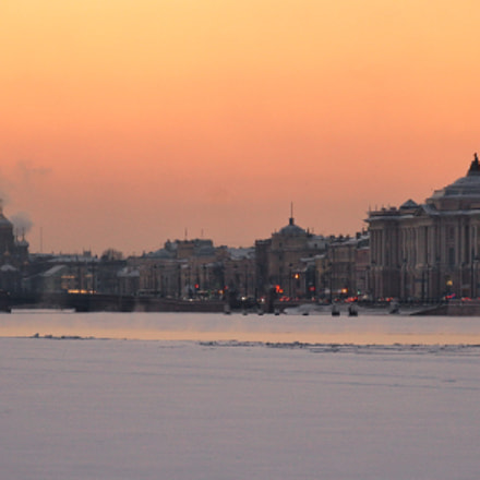 Winter sunset in the, Canon EOS 1000D, Sigma 18-200mm f/3.5-6.3 DC OS HSM [II]