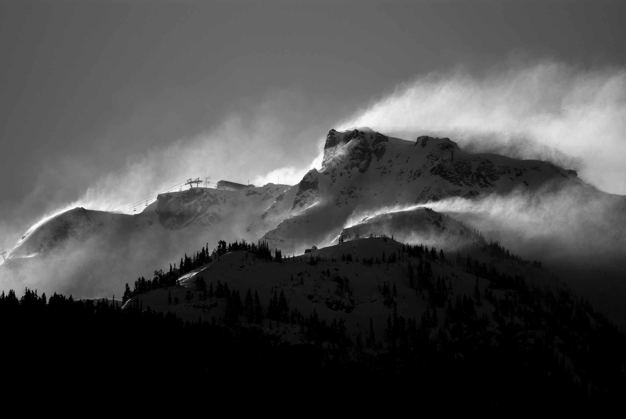 Photograph Wind howling off the peak of Whistler Mountain by Nicolas Teichrob on 500px
