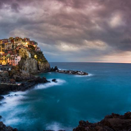 Sunset in Cinque Terre, Canon EOS 5D MARK II, Sigma 15mm f/2.8 EX Fisheye