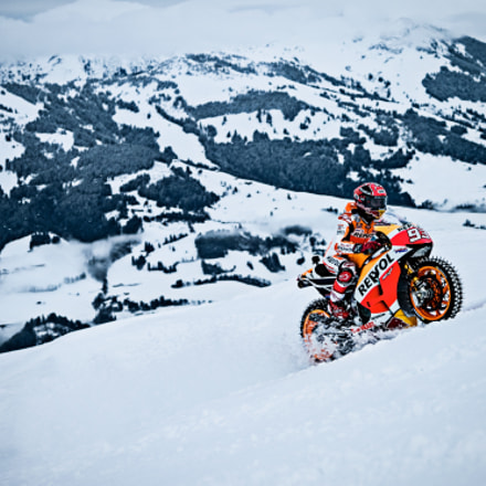 Marc Marquez on Ice